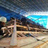野隅木の取り替え工事
