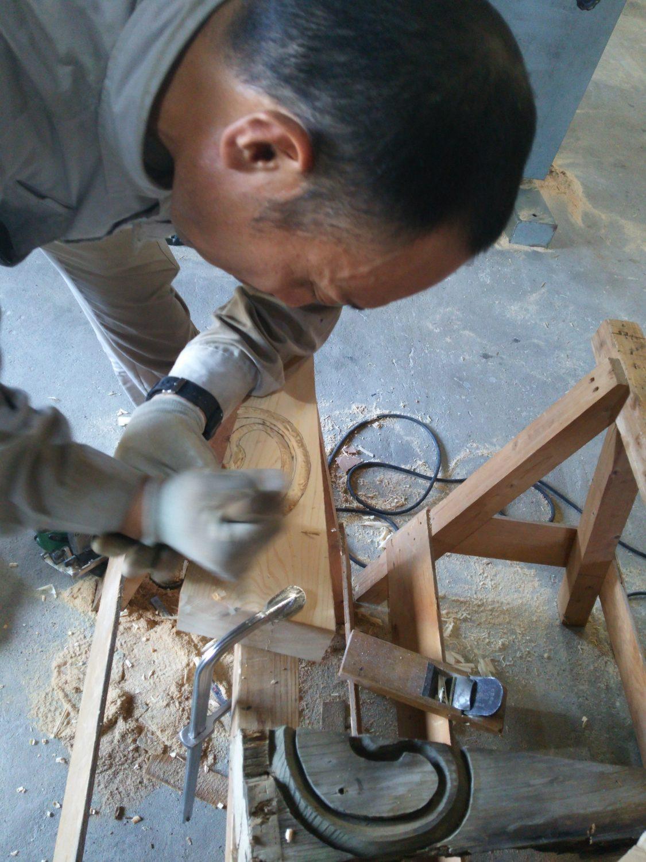 彫り物加工