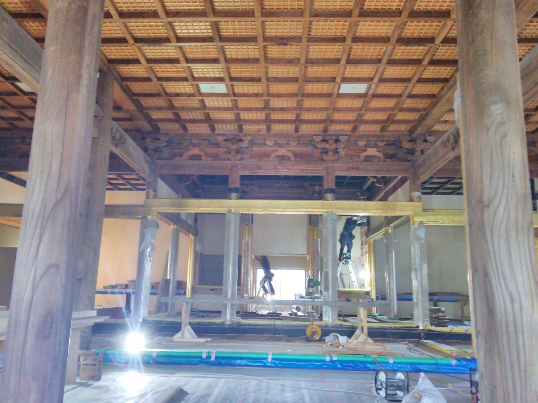 本堂全解体修理工事