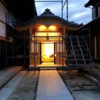 三重県桑名市願證寺様法務玄関新築工事