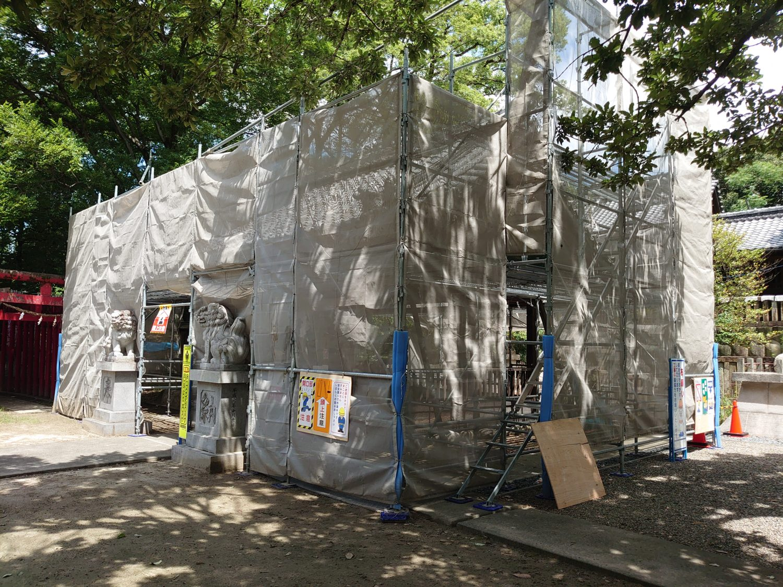 愛知県神社拝殿改修工事